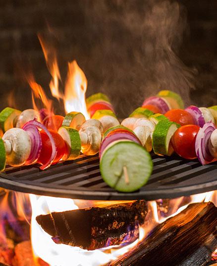 Корисний овочевий шашлик на шпажках